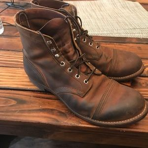 Red Wing Iron Ranger Brown Leather Boots Size 12